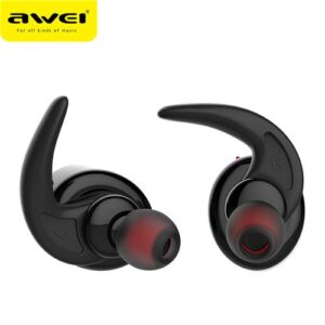 awei t1 bluetooth earphone tws wireless headphones sports headset ipx4 waterproof earbuds with microphone cvc6.0 noise reduction