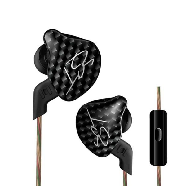 kz zsx 12 unit hybrid in-ear earphones hifi stereo headsets intelligent noise reduction headphones with 2 pin detachable cable