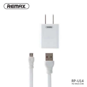 remax usb rp-u14 travel charger with 2.4a 1m micro / type-c/ iphone cable