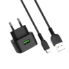 HOCO C70A Type C Charger Power Adapter With Micro USB Cable